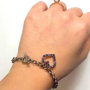 Vintage GUESS | Heart Charm Bracelet 💜